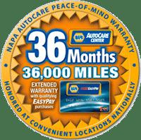 NAPA 36 Month Warranty